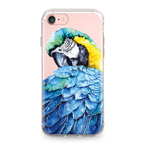 Beautiful Parrot | Soft Silicone |  For Iphone / 4 / 4S / 5 / 5S / SE / 5C / 6 / 6S / 7 Plus