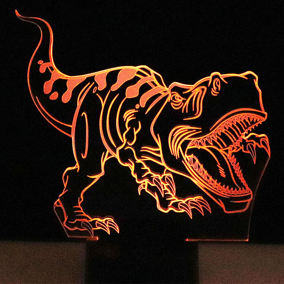 3D T-Rex | LED Lamp | Rechargeable | USB  Powered | Muti-Colors