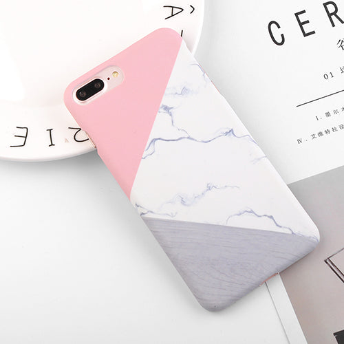Granite Scrub Marble | Hard Back Cover | For iPhone / 6 / 6S / 7 Plus / 5 / 5S / SE / iPhone 8 Plus