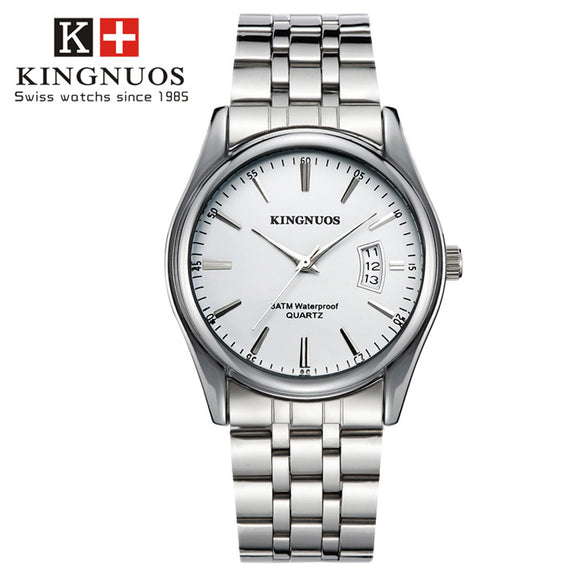 KINGNUOS | Luxury Men's Watch | Stainless Steel | Relogio Masculino