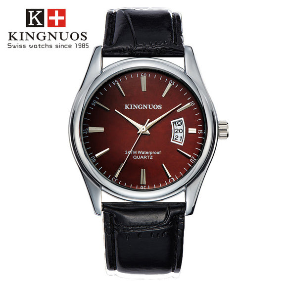 KINGNUOS | Luxury Men's Watch | Leather | Relogio Masculino