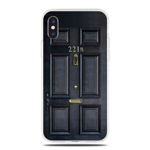 Black Metal Door | Dirt-resistant Silicone Case |  iPhone 5S   / 6S / 6S Plus / 7 /  7 Plus / 8 / 8 Plus / iphone X