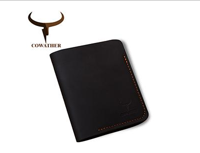 COWATHER | Genuine Leather | Cards & ID Holder | Black