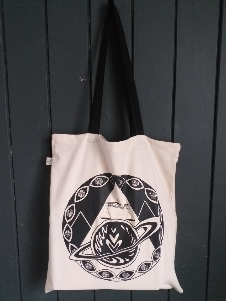 Earth Positive Long-Handled Cotton Tote Bag