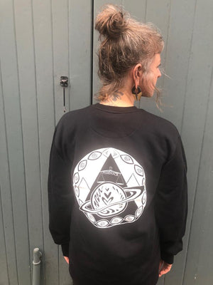 Sweatshop-free Screenprinted Black Sweatshirt
