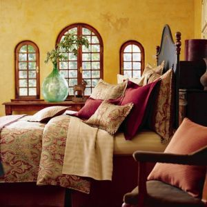 Nancy Rose Bordeaux Claret Bedding Ensemble