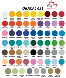 Oracal 631 Vinyl great for Cricut Vinyl projects
