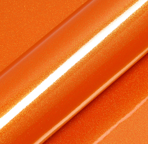 Craft Vinyl Orange Glitter