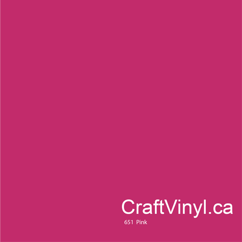 Oracal 651 Glossy Pink Vinyl #041