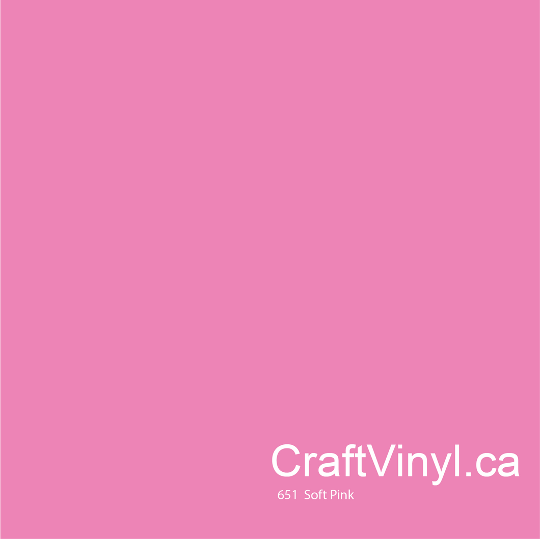 Oracal 651 Glossy Soft Pink Vinyl #045