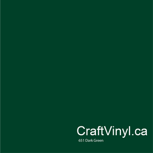 Oracal 651 Glossy Dark Green Vinyl #060