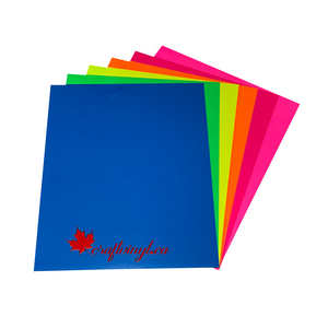 "Siser Easyweed Fluorescent HTV Package 6 Colors - 15"" x 12"" Sheets"