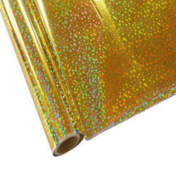 "StarCraft Electra Foil - 12"" x 25ft  Holographic Gold Sequins"