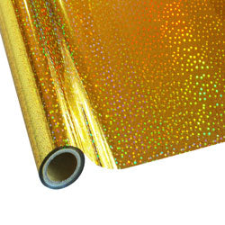 "StarCraft Electra Foil - 12"" x 25ft  Holographic Gold Stars"