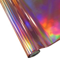 "StarCraft Electra Foil - 12"" x 25ft  Pink Holographic Rainbow"