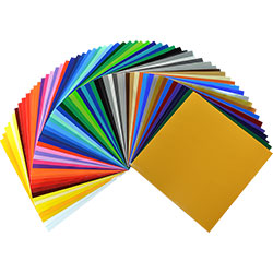 "Oracal 651 Starter package - 62 colors     12"" x 12"" sheets"