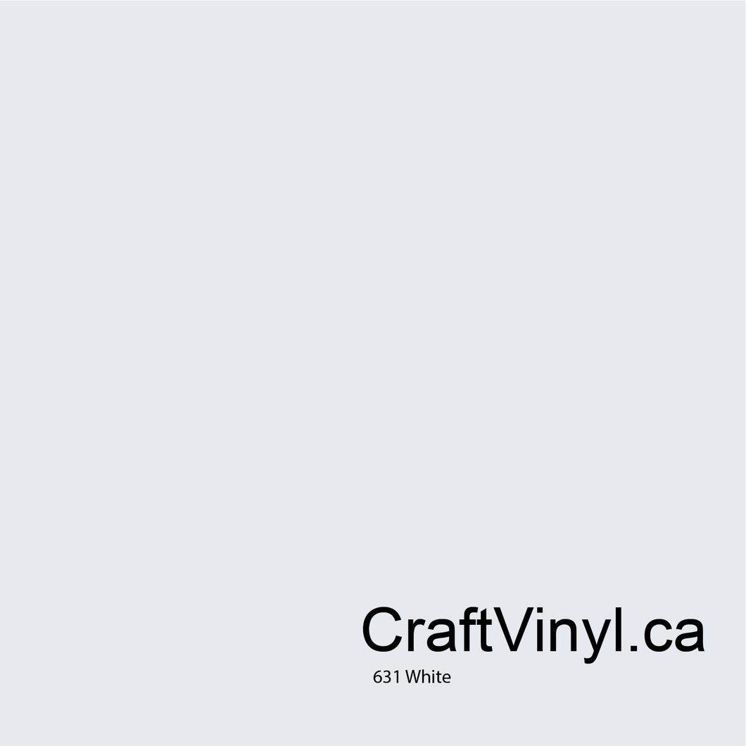 Oracal 631 Matte White Removable Vinyl #010
