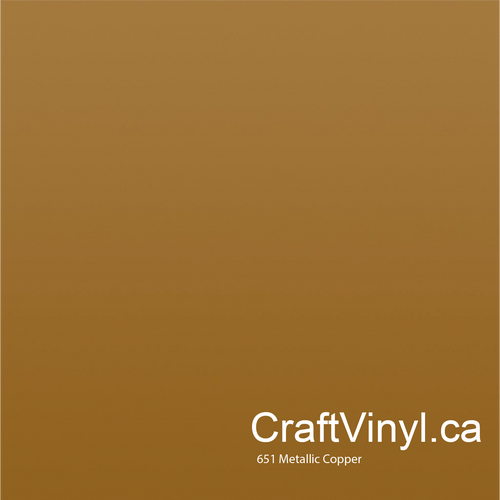 Oracal 651 Metallic Copper Vinyl #092