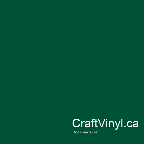 Oracal 651 Glossy Forest Green Vinyl #613