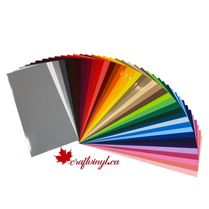 "Siser Easyweed HTV Package 39 Colors 15"" x 6"" Sheets"
