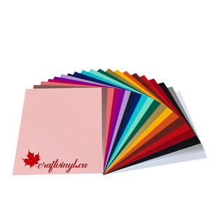 "Siser Easyweed Stretch HTV Package 20 Colors 15"" x 12"" Sheets"