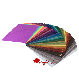 "Siser Glitter Package 46 colors 10"" x 12"" Sheets"