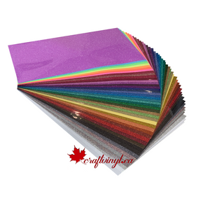 "Siser Glitter Package 46 colors 20"" x 12"" Sheets"