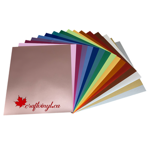 "Siser Easyweed Electric HTV Package 16 Colors 15"" x 12"" Sheets"