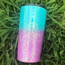 Robin Egg Blue & Purple Ombre Glitter Insulated Tumbler