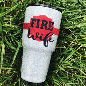 Fire Wife Glitter Insulated Cup