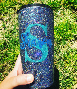 Personalized Chunky Glitter Insulated Cup