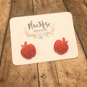 Apple Glitter Acrylic Studs