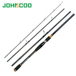 2.1 2.4 2.7m Lure Rod 4 Section Carbon Spinning Fishing Rod Travel Rod Casting Fishing Pole Vava De Pesca Saltwater Rod