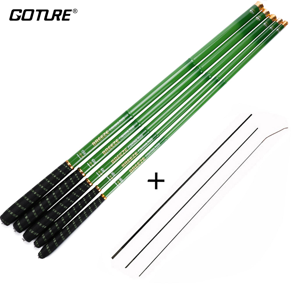 Goture Stream Fishing Rods 3.0m/3.6m/4.5m/5.4m/6.3m/7.2m Telescopic Fishing Rod Carbon Fiber Hand Pole for Carp Fishing