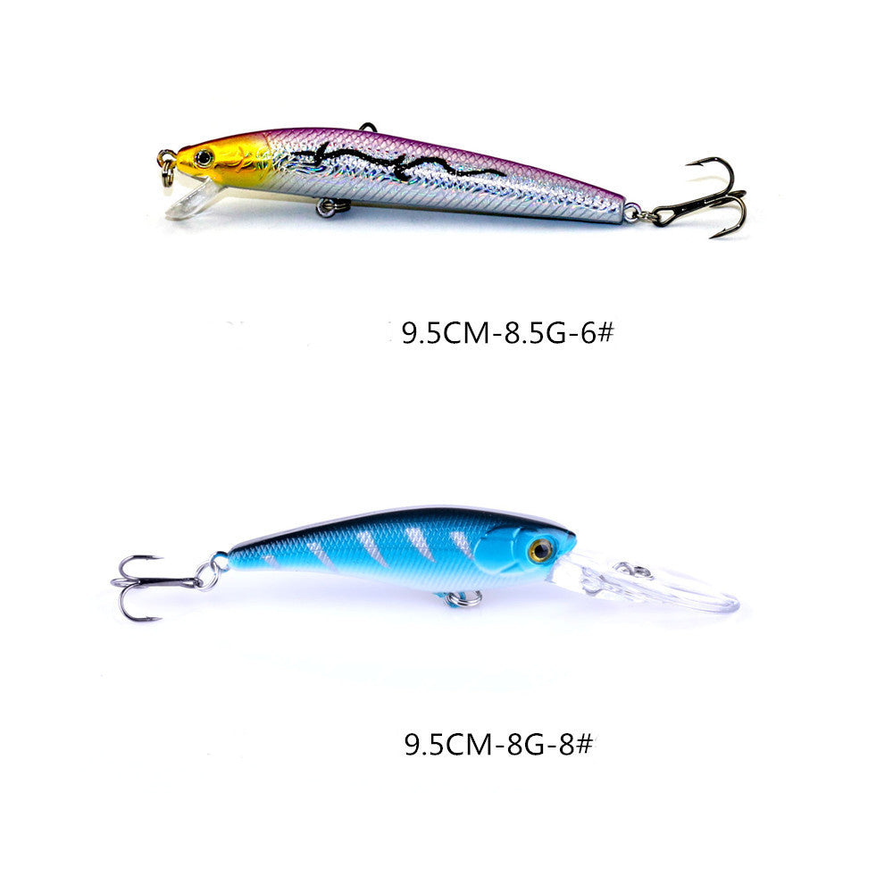 20pcs Mixed Minnow Baits Fishing Lures Bass Crankbait Treble Hook Fish Tackle #EW