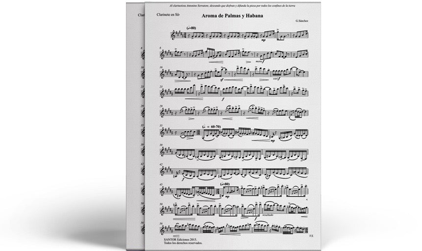 Sheet Music for Clarinet & Cello