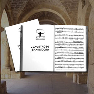 """Claustro de San Isidoro"" for cello and B flat clarinet. Georgina Sánchez Torres - Santor Ediciones"