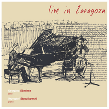 """Live in Zaragoza"" Romantic music for cello and piano. Rachmaninoff, Saint-Saëns, Laló, Dvořák and Monti - Santor Ediciones"