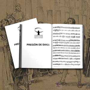 """Pregón de Danza"" for cello and B flat clarinet. Georgina Sánchez Torres - Santor Ediciones"