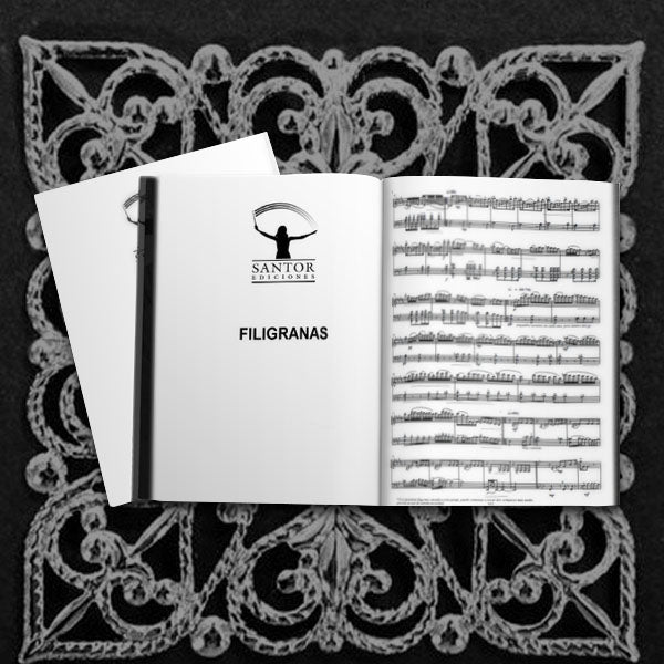 Filigranas for solo E-Flat Clarinet and Clarinet Ensemble - Santor Ediciones