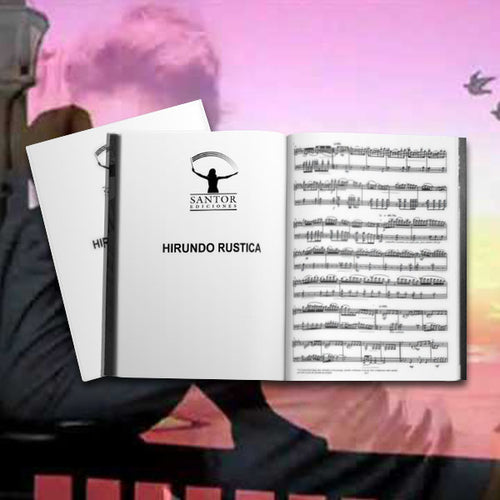 Hirundo Rustica. (Cello and piano). Georgina Sánchez Torres [Sheet Music] - Santor Ediciones