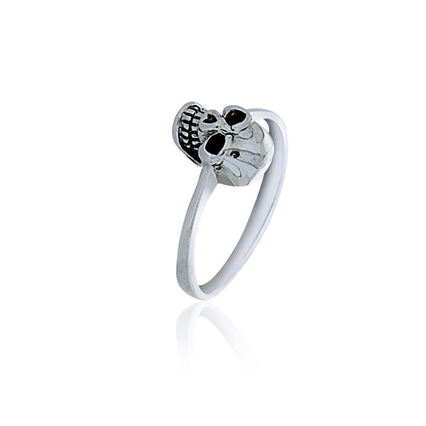 Silver Day Of The Dead Small Skull Ring