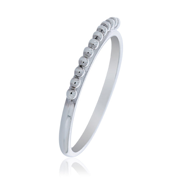 Silver Ball Ring - Stacker Ring