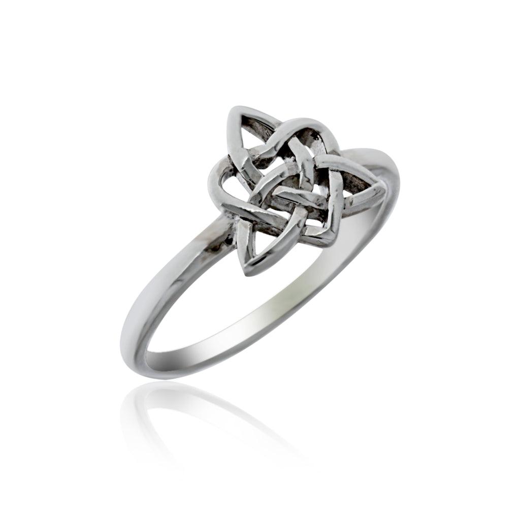 Silver Celtic Triple Goddess Ring
