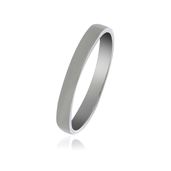 Silver Plain Band Ring