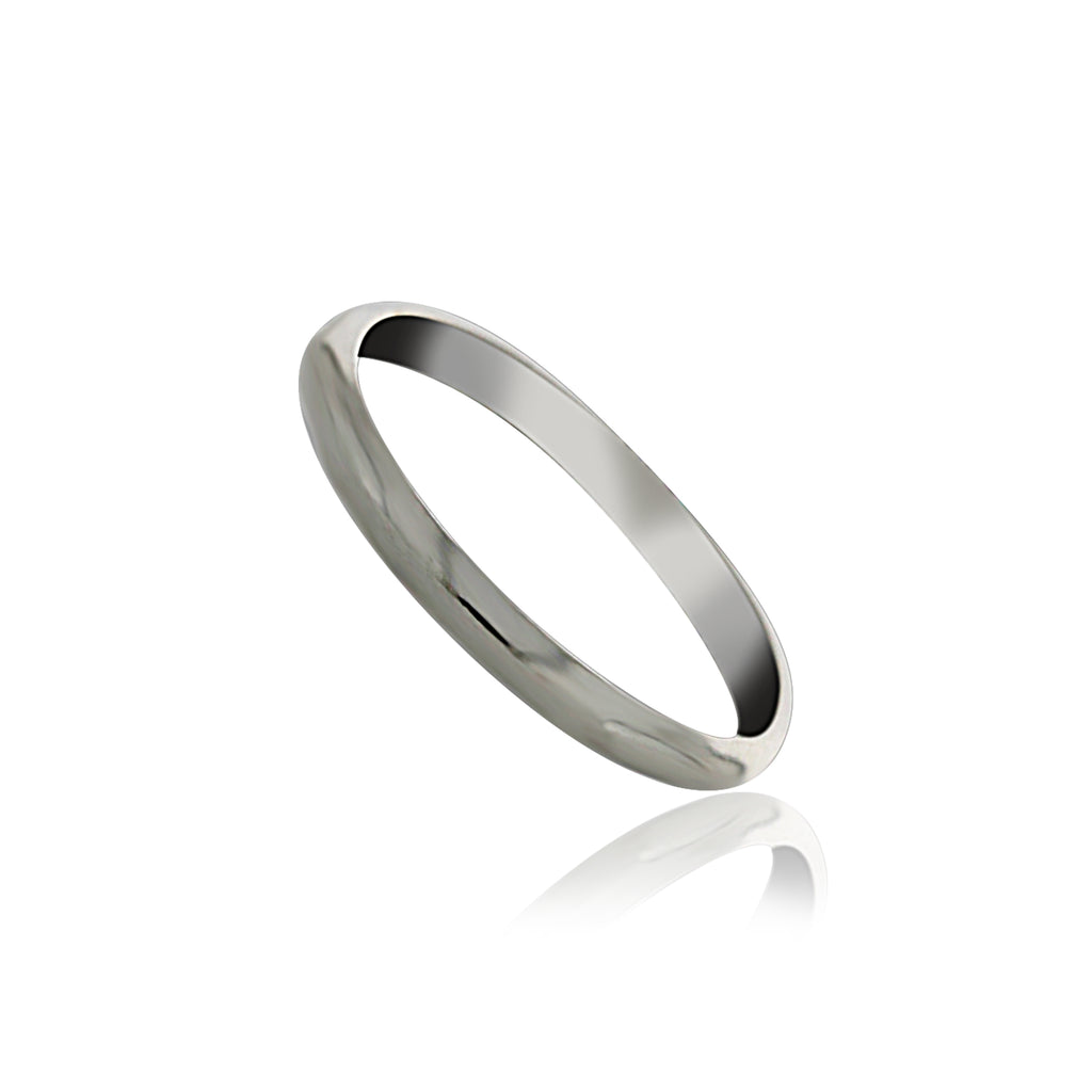 Silver Plain Thin Band