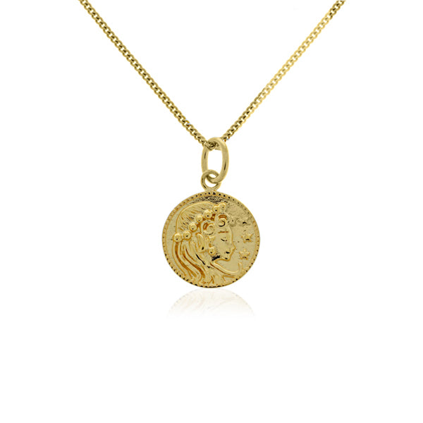 Yellow Gold Plated Coin Pendant