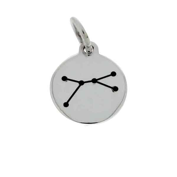 Mojo Silver Constellation Starsign Charm - Cancer