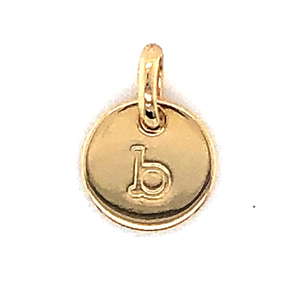 Mojo Yellow Gold Plated Initial B Charm