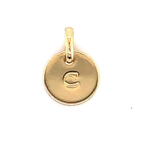 Mojo Yellow Gold Plated Initial C Charm